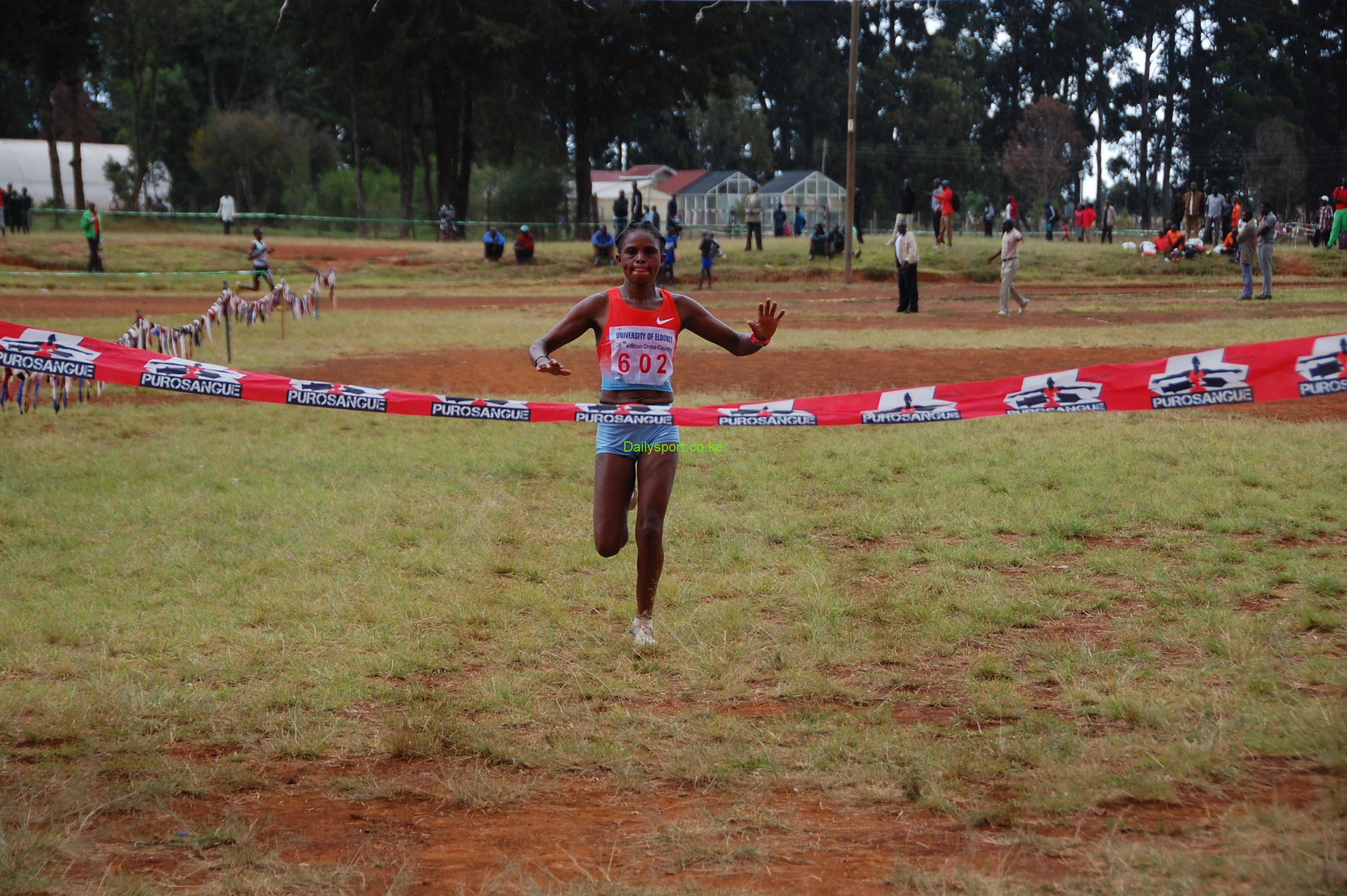 "Pascalia Kipkoech Chepkorir, the 2012 IAAF World Half marathon bronze medalist has cleared much hyped speculations that she will not be defending her University of Eldoret (UoE) cross country 8km title when the race gets underway this Saturday. Instead, the Iten based road run specialist will be sapping the streets of Valencia in Spain for Valencia Half marathon this Sunday to add her othet title in the 21km distance. With her focus to improve on her time, the 2003 World Youth 3,000m silver medalist said she was on final touches of preparations of training before traveling to the Spanish City. Top form runner said she is ready to compete in Valencia to improve on her 67:17 personal best in the 21km distance. ""I have what it takes to take the title and improve on my time in the Spaniard city since my body is responding well to the training. In Valencia, I want to try my best to finish on the podium but majorly I win will be good for me,"" said Chepkorir. Having won the Berlin half marathon title in 2010, the soft spoken runner has been consistent her youthful age and last weekend she finished third in the Isaiah Kiplagat Memorial Ndalat Gaa cross country, the first in the Athletics Kenya Calendar of events ahead of Africa Cross country and Commonwealth Games. ""I did not run well today because last Sunday I had just run Durban 10km race in South Africa but I have to be contented with what I got,"" said Chepkorir after finishing third in Ndalat on Saturday. Veronica Nyaruai, Paskalia Jepkorir, Durban 10km, Isaac Macharia"