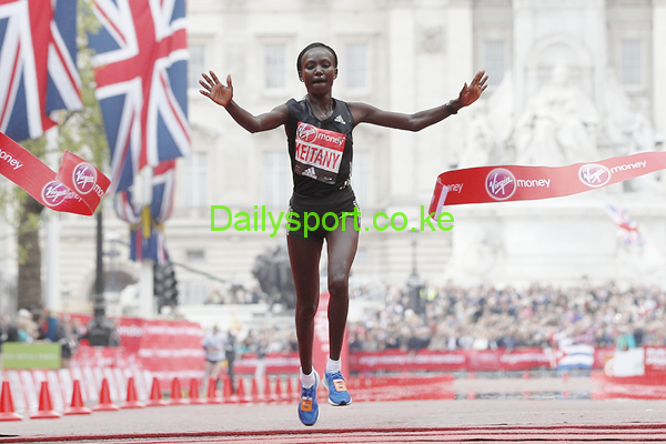 """Mary Keitany, Mary Jepkosgey Keitany, Vivian Cheruiyot, Priscah Jeptoo, Magdalene Masai, Caroline Chepkoech, Great North Run half marathon, Great North Run, Charles Koech, Kenya's Mary Keitany took 41 seconds off the women's-only world record* at the Virgin Money London Marathon, running 2:17:01 at the IAAF Gold Label Road Race on Sunday (23). Keitany said in the build-up to this year's race she was in shape to break Paula Radcliffe's mark of 2:17:42 and while she demurred when asked about the possibility of bettering Radcliffe's outright mark of 2:15:25, Keitany was running minutes inside Radcliffe's schedule in the first half. Paced by her training partner Caroline Kipkirui, Keitany cut loose from arguably the most accomplished field in race history with an astonishingly fast third mile 4:37. Through 5km in 15:31 and 10km in 31:17, Keitany was running at close to 2:10 pace while the second group – which was already beginning to splinter – hit 10km in 31:31, exactly half a minute faster than Radcliffe in 2003. Keitany, who covered the fourth and fifth miles in 4:56 and 4:59 respectively, was still within sight of the second group at 10km but the 34-year-old was away and clear with a succession of mile splits faster than 5:10 through the 10-mile mark in 50:41. Her half marathon split of 1:06:54 was the fastest in marathon history (Radcliffe ran 1:08:02 in 2003) and her advantage had extended to 59 seconds over the chasers, including track greats Tirunesh Dibaba, Vivian Cheruiyot, former winner Aselefech Mergia and world silver medallist Helah Kiprop. """"I know Mary is a fast runner and I was following my own pace and until halfway, I was on track but I was never expecting she would go that fast and maintain it,"""" said an incredulous Dibaba after the race. This early pace had already torn the second group asunder. Former winner Tigist Tufa and world champion Mare Dibaba had lost more than three minutes on the second group with the latter dropping out after the 30km mark"""