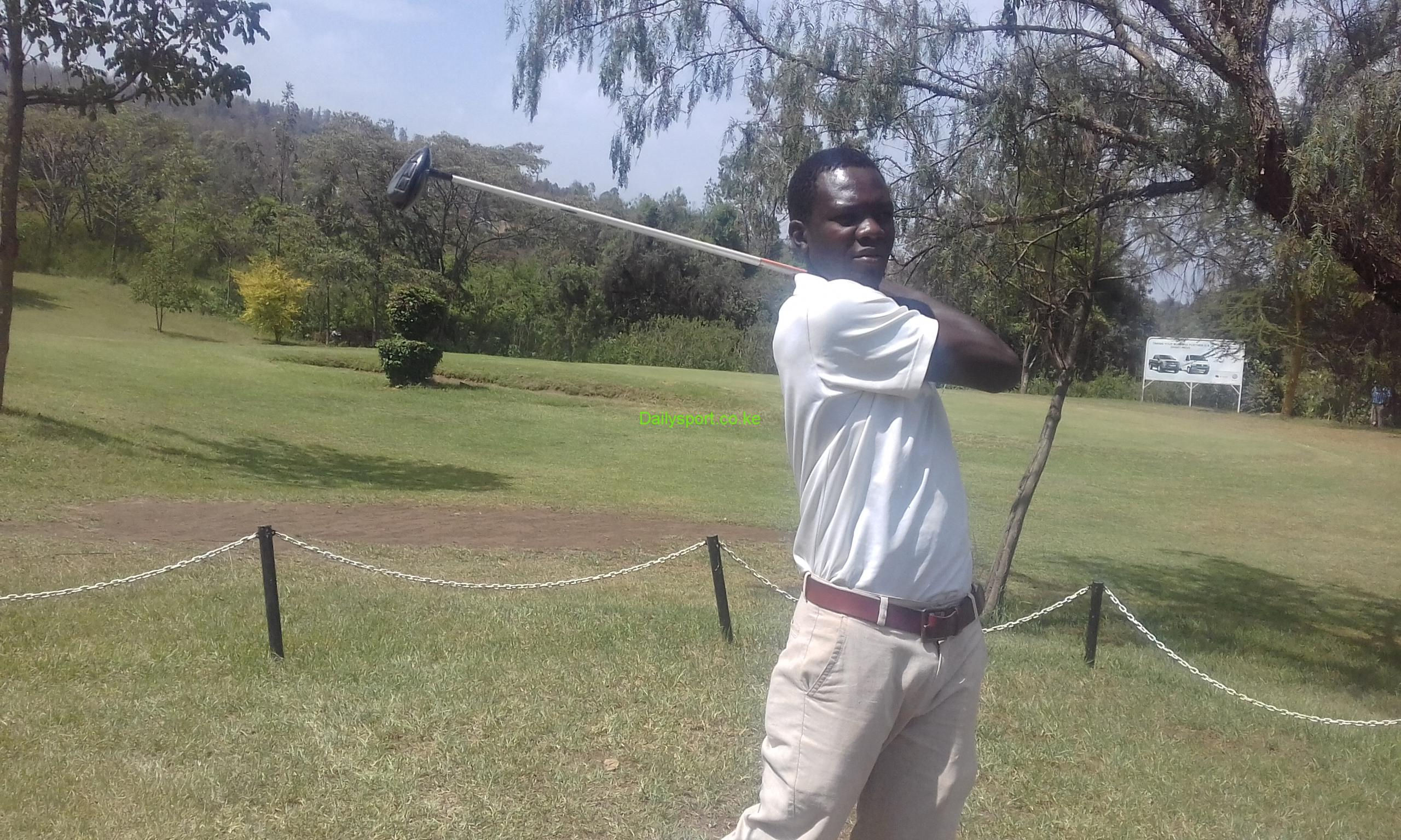 Isaac Makokha, Deaflympics, Deaflympic Games, Vet Lab, Charles Odhiambo, Jeff Kubwa, Kenya Amateur Golf Championship, Golfer of The Year, Reuben Kubwa, Dennis Makokha, Eldoret golf club, Coronation and Bendor Trophy, Coronation Trophy,